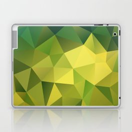 Abstract of triangles polygon in green yellow lime colors Laptop & iPad Skin