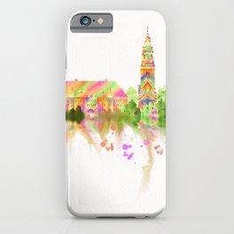 Colorful Harvard University Skyline iPhone Case