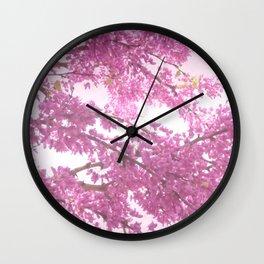 Judas Tree Blossom Wall Clock