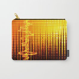 Sound wave orange Carry-All Pouch