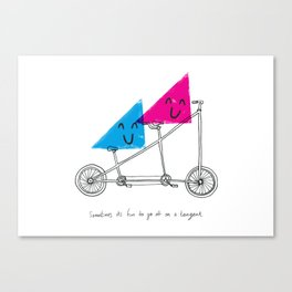 Tangent Bicycle Canvas Print
