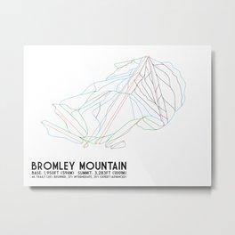 Bromley, VT - Minimalist Trail Art Metal Print
