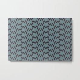 Soft Aqua Blue Purple Tessellation Line Pattern 18 2021 Color of the Year Aegean Teal Tulsa Twilight Metal Print