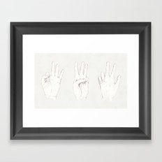 Three Threes Framed Art Print