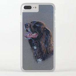 English Cocker Spaniel art print Clear iPhone Case