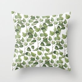 birch leaves Throw Pillow