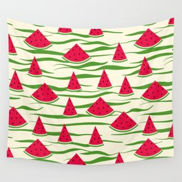 Watermelon pattern . 2 Retro . Wall Tapestry