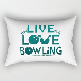 LIVE - LOVE - BOWLING Rectangular Pillow
