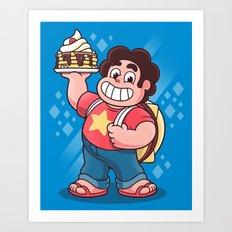 Breakfast Boy Art Print