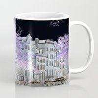 amsterdam Mugs featuring Amsterdam by DuniStudioDesign