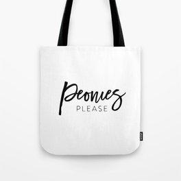 Peonies please Tote Bag