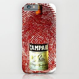 Vintage Cordial Campari Aperitif Thumb Print Advertising Poster iPhone Case