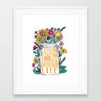 bright Framed Art Prints featuring ALWAYS LOOK ON THE BRIGHT SIDE... by Matthew Taylor Wilson