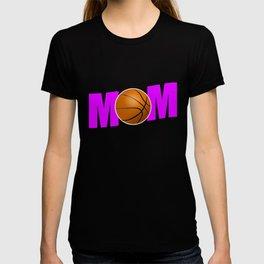 Funny Basketball Mom design Gift for Sport Mothers T-shirt