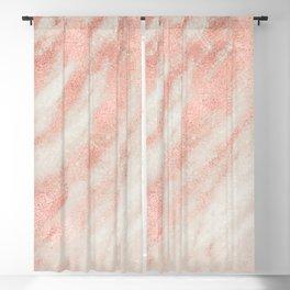 Desert Rose Gold Pink Marble Blackout Curtain
