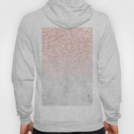She Sparkles Rose Gold Pink Concrete Luxe Hoody