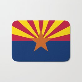 Arizona State flag, Authentic version - color and scale Bath Mat
