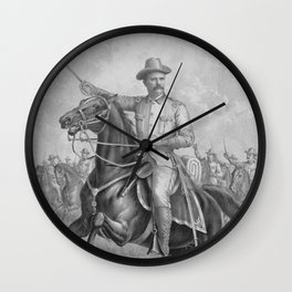 Colonel Theodore Roosevelt On Horseback Wall Clock