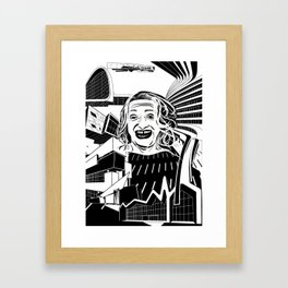 ZAHA HADID Tribute Framed Art Print