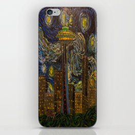 Dedication to Van Gogh: Seattle Starry Night iPhone Skin