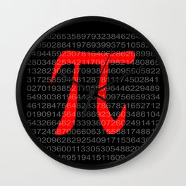 The Constant Pi Wall Clock