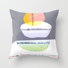 Balancing 1 Throw Pillow