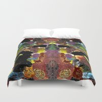 metallic Duvet Covers featuring metallic by gasponce