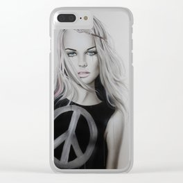 'Peace, Love & Psychadelia' Clear iPhone Case