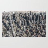 manhattan Area & Throw Rugs featuring Manhattan by Nicklas Gustafsson
