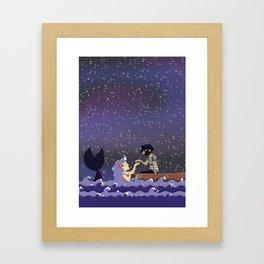 The sailor and the mermaid Framed Art Print