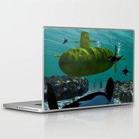 yellow submarine Laptop & iPad Skins featuring Submarine by nicky2342