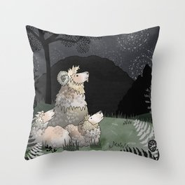 the thing up there Throw Pillow