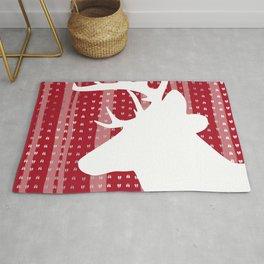 Eleghant Red Deer Holiday Design Rug