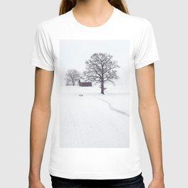 Rural Winter Landscape T-shirt