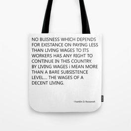 minimum wage Tote Bag