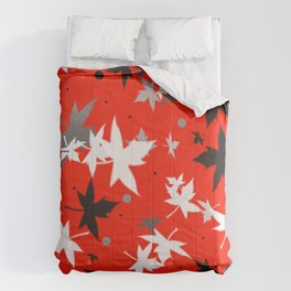 Forever Autumn Leaves red 5 Comforters