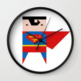 simpleheroes SUPERMAN fan art Wall Clock