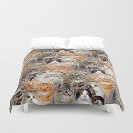 cats pattern lot of funny animals cheesy crazy Duvet Cover