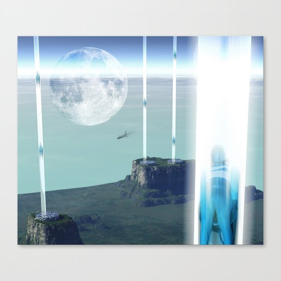 space elevator - transfer station 2099 Canvas Print