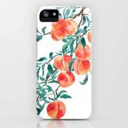 peach watercolor iPhone Case