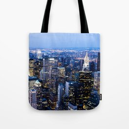 Lower Manhattan From the Empire State Building Tote Bag