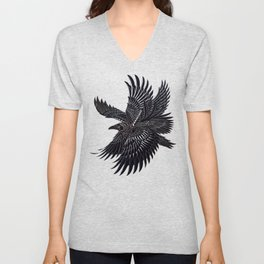 Moonlight Raven Unisex V-Neck