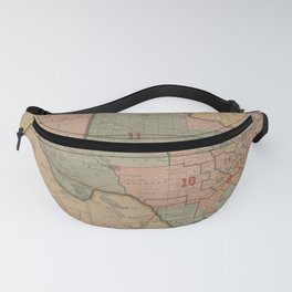 Houston Post map of the great Southwest (1880) Fanny Pack