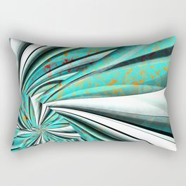 Colourleafs Turquoise Rectangular Pillow