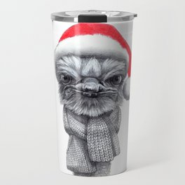 Christmas Ostrich red G145 Travel Mug
