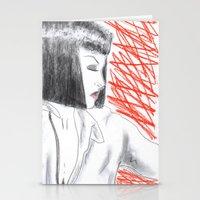mia wallace Stationery Cards featuring Mia Wallace by Natália Damião