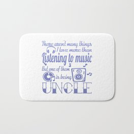 Listening to Music Uncle Bath Mat
