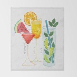 Summer Cocktail Trio Throw Blanket