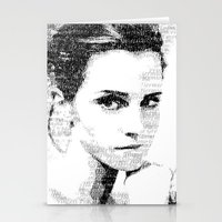 emma watson Stationery Cards featuring Emma Watson Typography by Christian Gholson