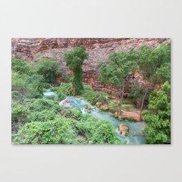 Havasu Creek 01 (Havasu Falls, Supai, AZ) Canvas Print